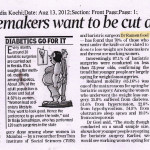 Times of India, Kochi 13th August 2013